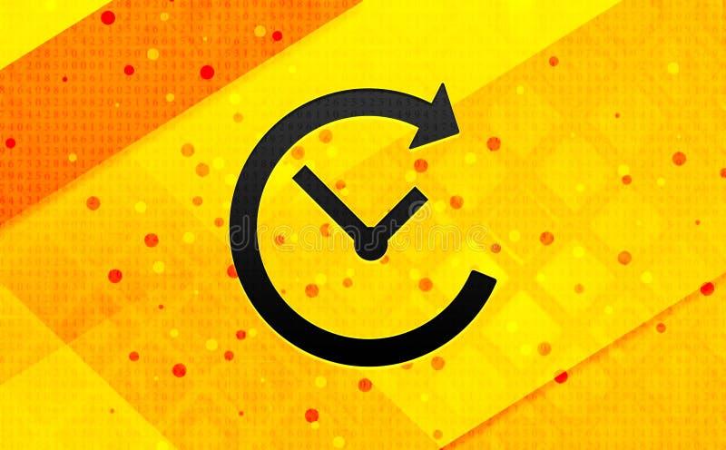 Bakgrund för abstrakt digitalt baner för historiesymbol gul stock illustrationer