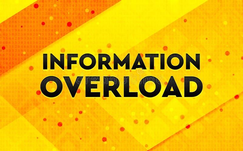 Bakgrund för abstrakt digitalt baner för informationsöverbelastning gul royaltyfri illustrationer
