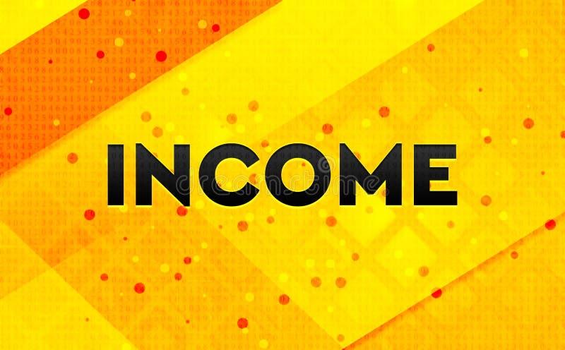 Bakgrund för abstrakt digitalt baner för inkomst gul stock illustrationer