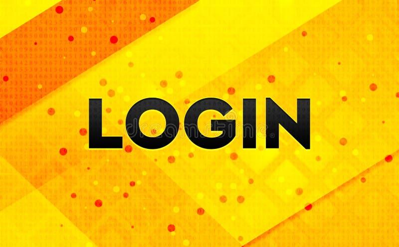 Bakgrund för abstrakt digitalt baner för inloggning gul royaltyfri illustrationer