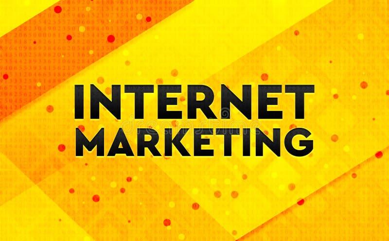 Bakgrund för abstrakt digitalt baner för internetmarknadsföring gul vektor illustrationer