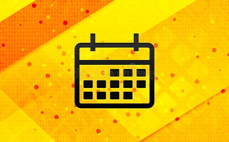 Bakgrund för abstrakt digitalt baner för kalendersymbol gul vektor illustrationer