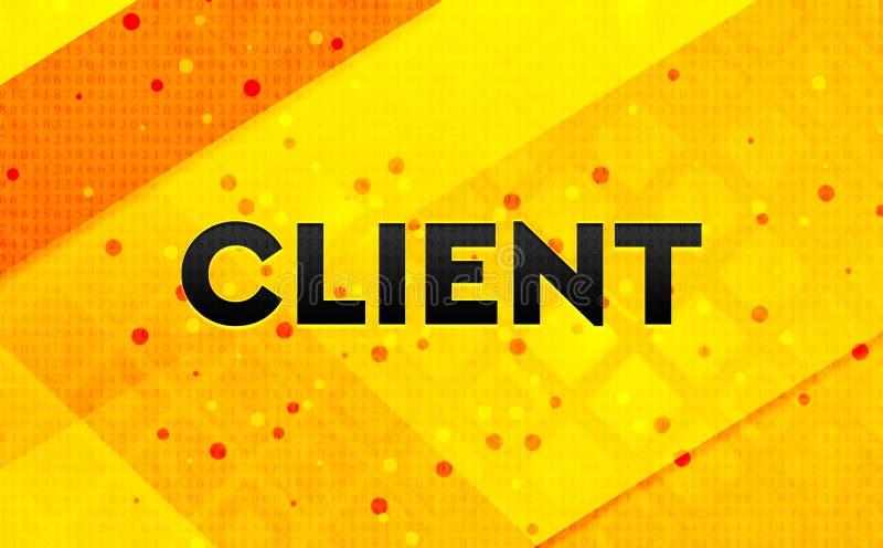 Bakgrund för abstrakt digitalt baner för klient gul vektor illustrationer