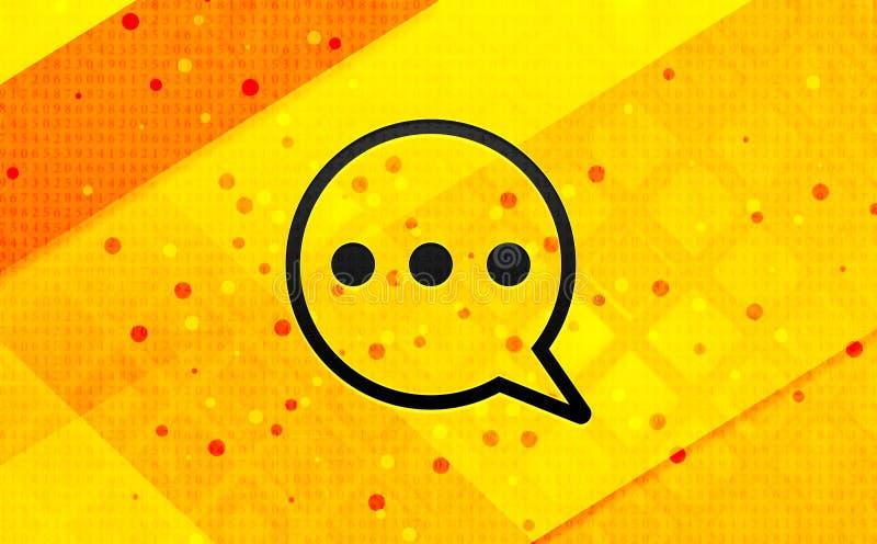 Bakgrund för abstrakt digitalt baner för kommentarsymbol gul stock illustrationer