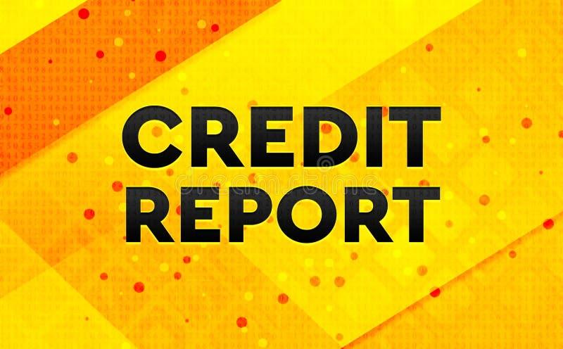 Bakgrund för abstrakt digitalt baner för kreditupplysning gul vektor illustrationer