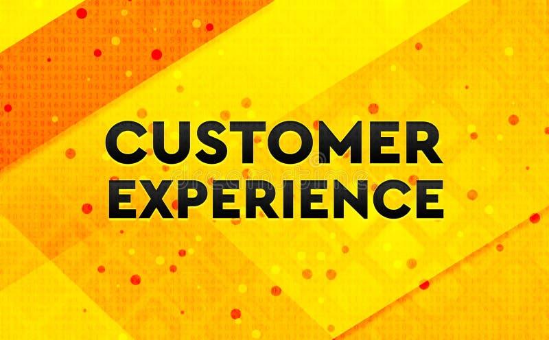 Bakgrund för abstrakt digitalt baner för kunderfarenhet gul stock illustrationer