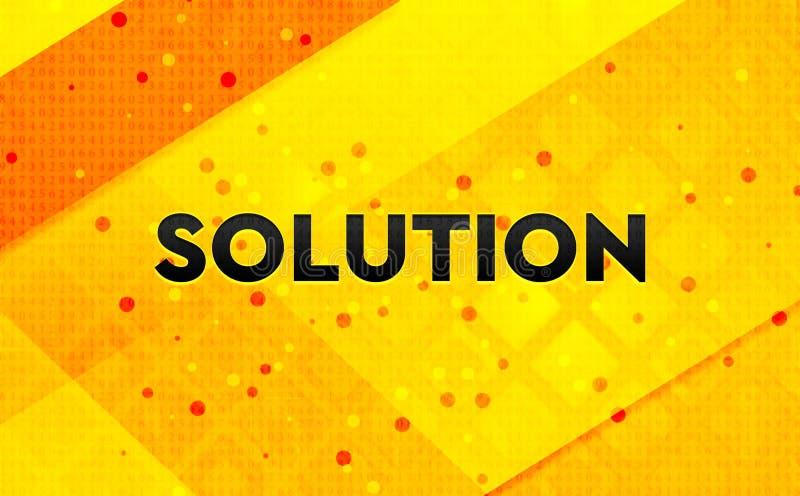 Bakgrund för abstrakt digitalt baner för lösning gul royaltyfri illustrationer