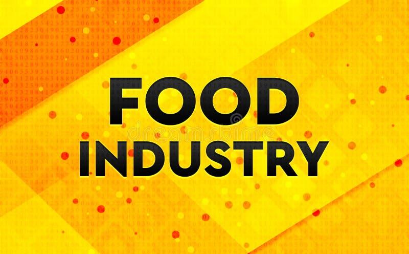 Bakgrund för abstrakt digitalt baner för livsmedelsindustri gul stock illustrationer