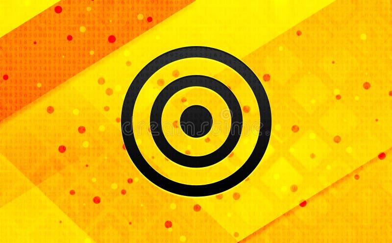Bakgrund för abstrakt digitalt baner för målsymbol gul stock illustrationer