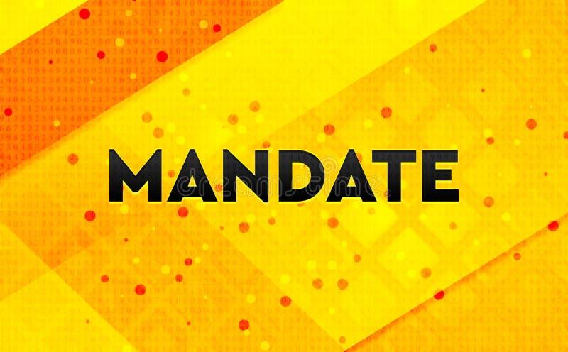 Bakgrund för abstrakt digitalt baner för mandat gul stock illustrationer