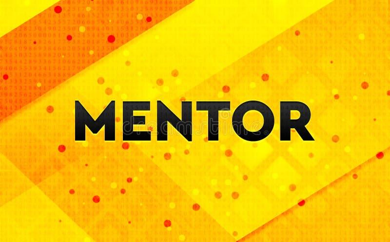 Bakgrund för abstrakt digitalt baner för mentor gul royaltyfri illustrationer