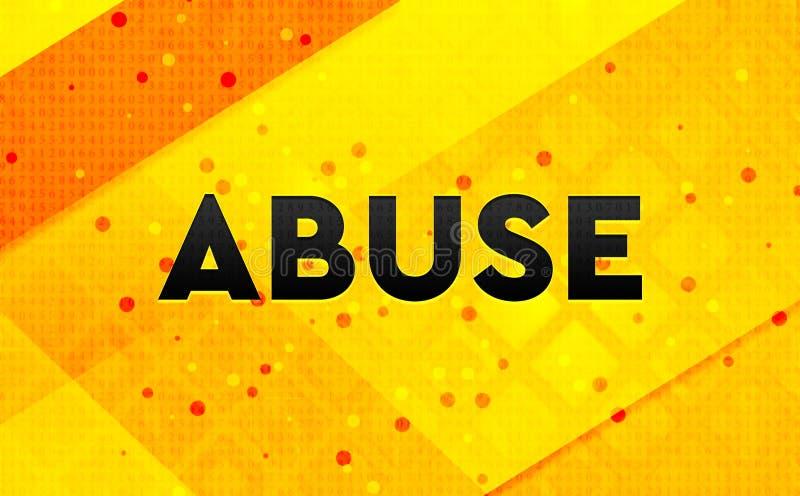 Bakgrund för abstrakt digitalt baner för missbruk gul stock illustrationer