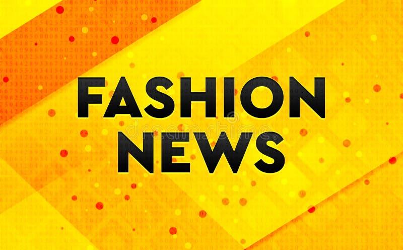 Bakgrund för abstrakt digitalt baner för modenyheterna gul royaltyfri illustrationer