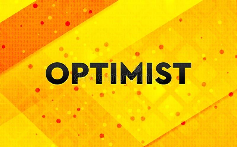 Bakgrund för abstrakt digitalt baner för optimist gul stock illustrationer
