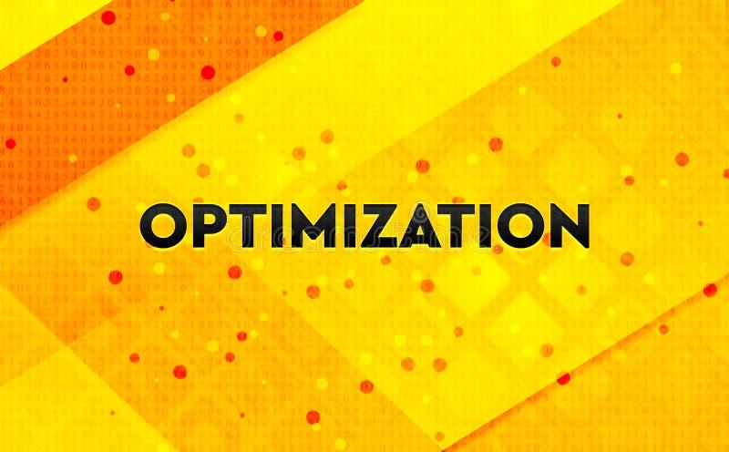 Bakgrund för abstrakt digitalt baner för Optimization gul vektor illustrationer