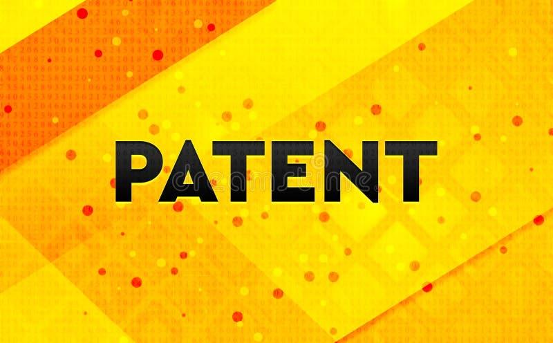 Bakgrund för abstrakt digitalt baner för patent gul royaltyfri illustrationer
