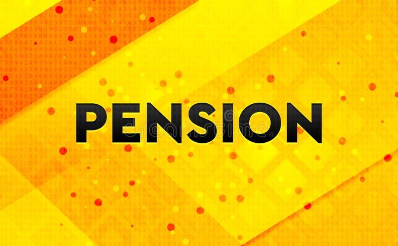 Bakgrund för abstrakt digitalt baner för pension gul royaltyfri illustrationer