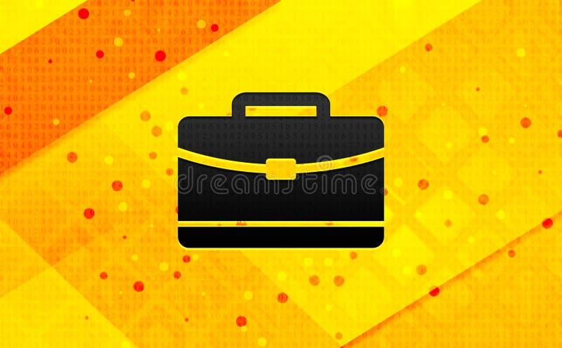 Bakgrund för abstrakt digitalt baner för portföljsymbol gul stock illustrationer
