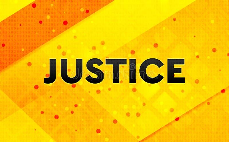 Bakgrund för abstrakt digitalt baner för rättvisa gul stock illustrationer