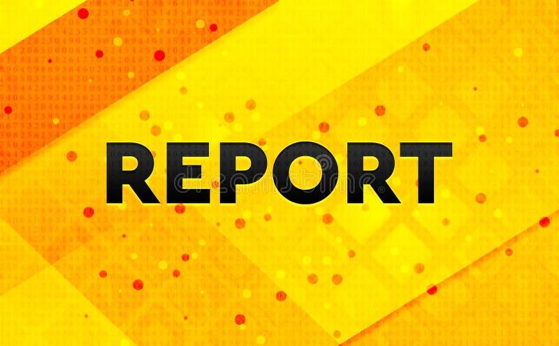 Bakgrund för abstrakt digitalt baner för rapport gul stock illustrationer