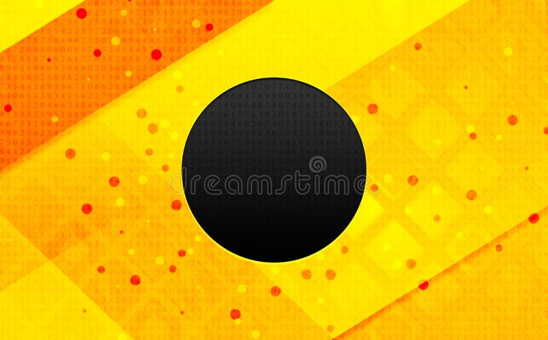 Bakgrund för abstrakt digitalt baner för rekordsymbol gul vektor illustrationer