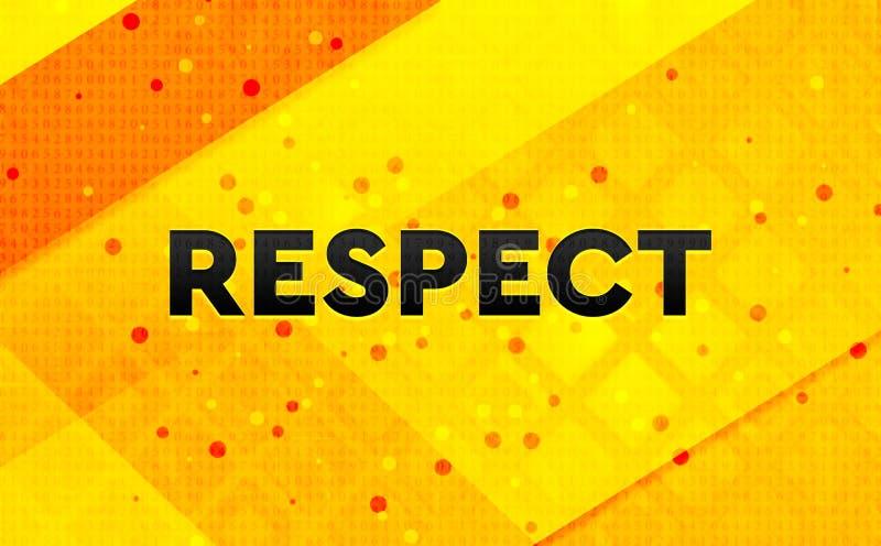 Bakgrund för abstrakt digitalt baner för respekt gul royaltyfri illustrationer