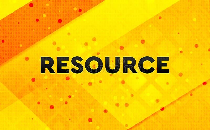 Bakgrund för abstrakt digitalt baner för resurs gul royaltyfri illustrationer