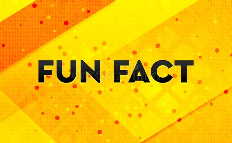 Bakgrund för abstrakt digitalt baner för roligt faktum gul vektor illustrationer