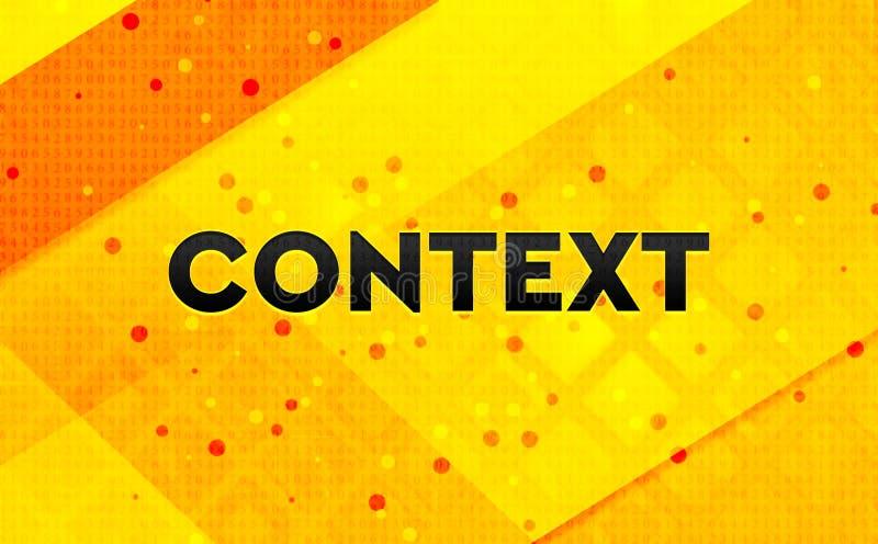 Bakgrund för abstrakt digitalt baner för sammanhang gul vektor illustrationer