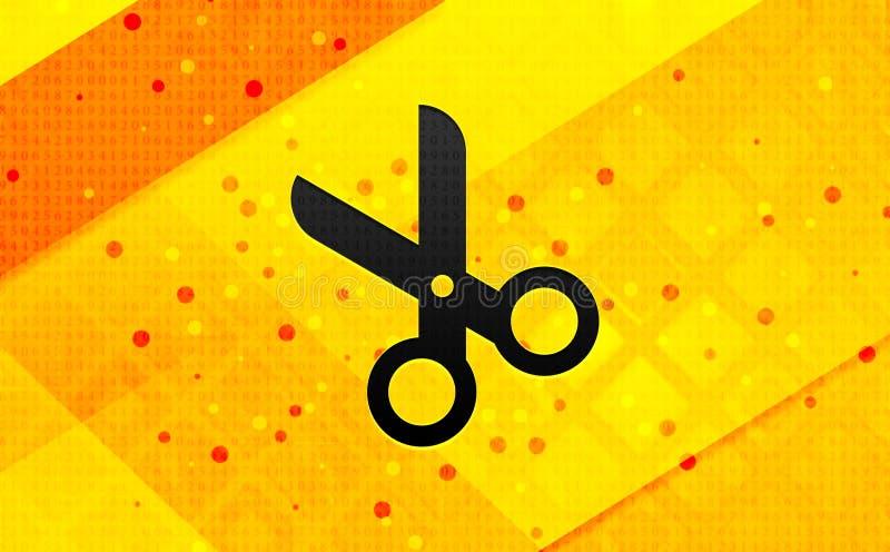 Bakgrund för abstrakt digitalt baner för saxsymbol gul stock illustrationer