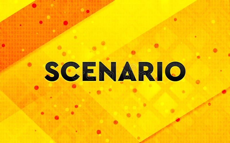 Bakgrund för abstrakt digitalt baner för scenario gul vektor illustrationer