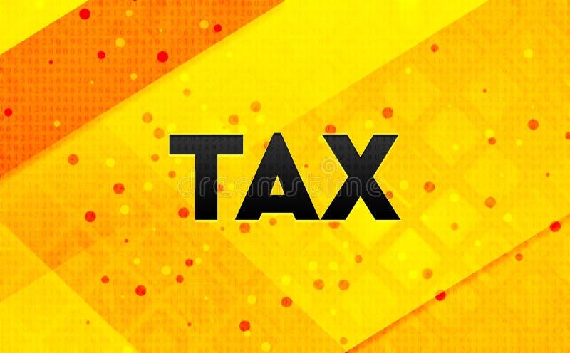 Bakgrund för abstrakt digitalt baner för skatt gul stock illustrationer