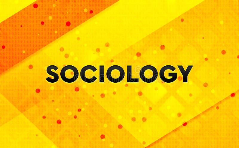 Bakgrund för abstrakt digitalt baner för sociologi gul royaltyfri illustrationer