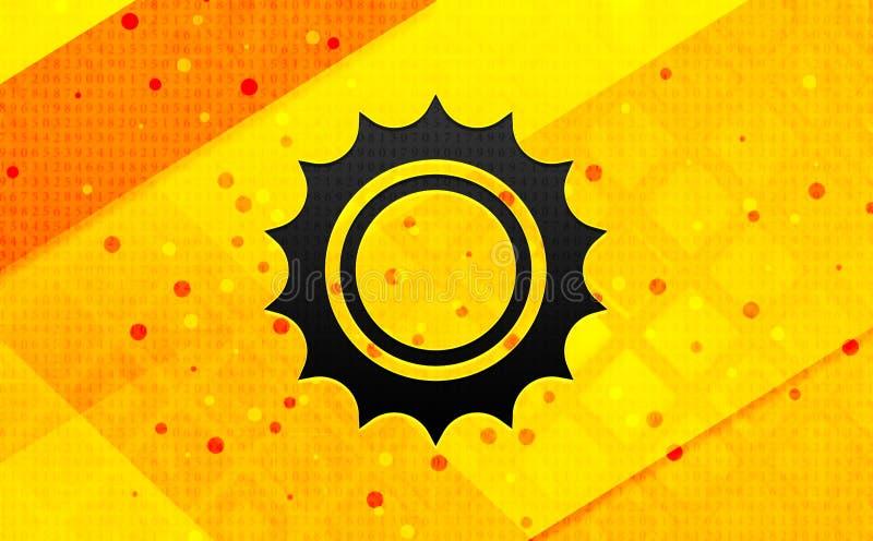 Bakgrund för abstrakt digitalt baner för solsymbol gul royaltyfri illustrationer