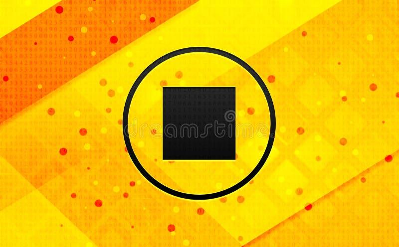 Bakgrund för abstrakt digitalt baner för stoppleksymbol gul stock illustrationer