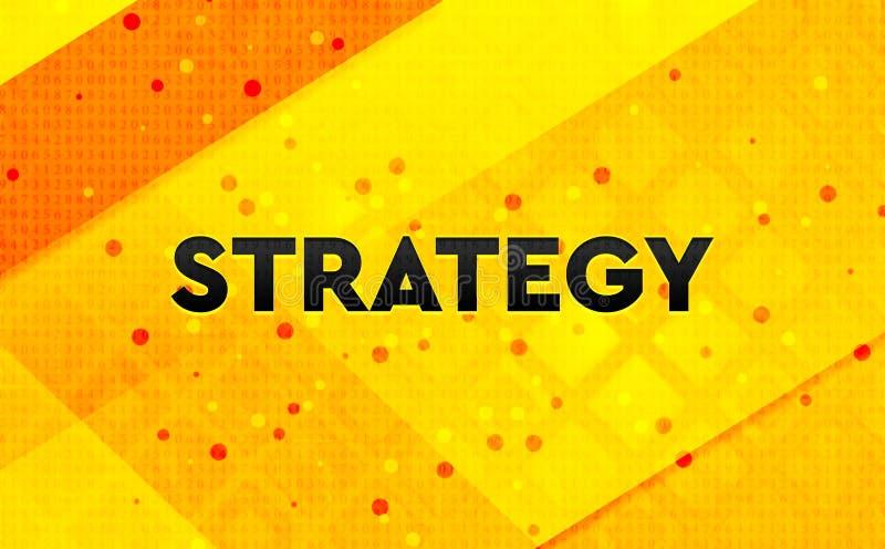 Bakgrund för abstrakt digitalt baner för strategi gul royaltyfri illustrationer