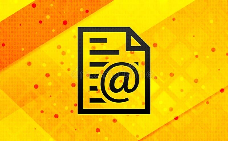 Bakgrund för abstrakt digitalt baner för symbol för Emailadresssida gul vektor illustrationer