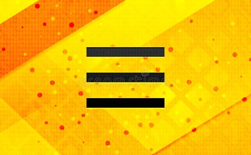 Bakgrund för abstrakt digitalt baner för symbol för hamburgaremenystång gul vektor illustrationer