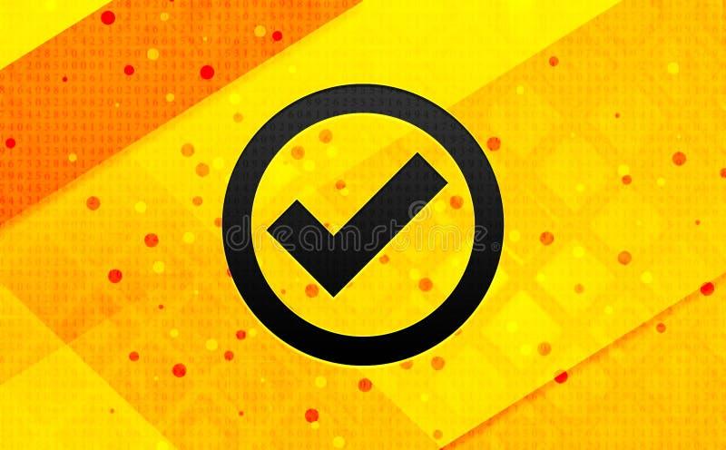 Bakgrund för abstrakt digitalt baner för symbol för kontrollask gul royaltyfri illustrationer