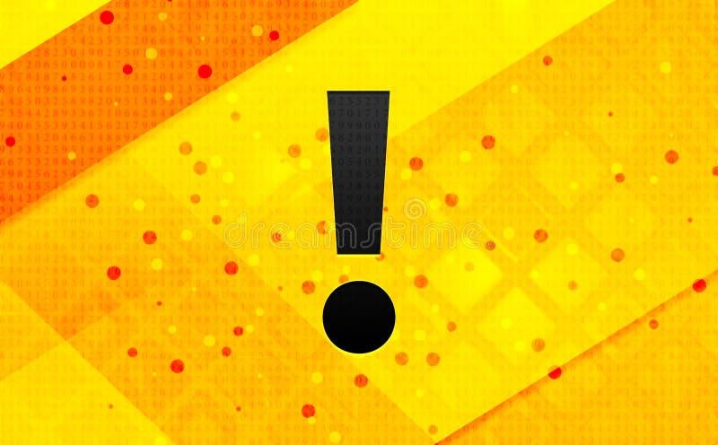 Bakgrund för abstrakt digitalt baner för utropsteckensymbol gul vektor illustrationer
