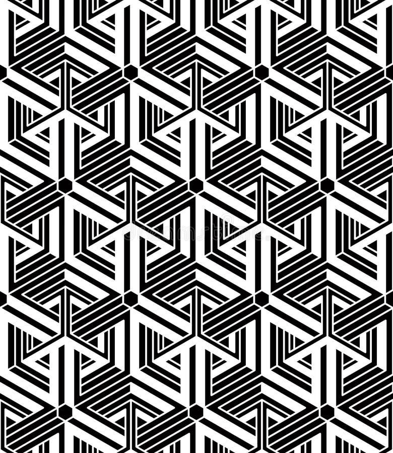 Bakgrund för abstrakt vektor för samtida ändlös, tre-mått vektor illustrationer