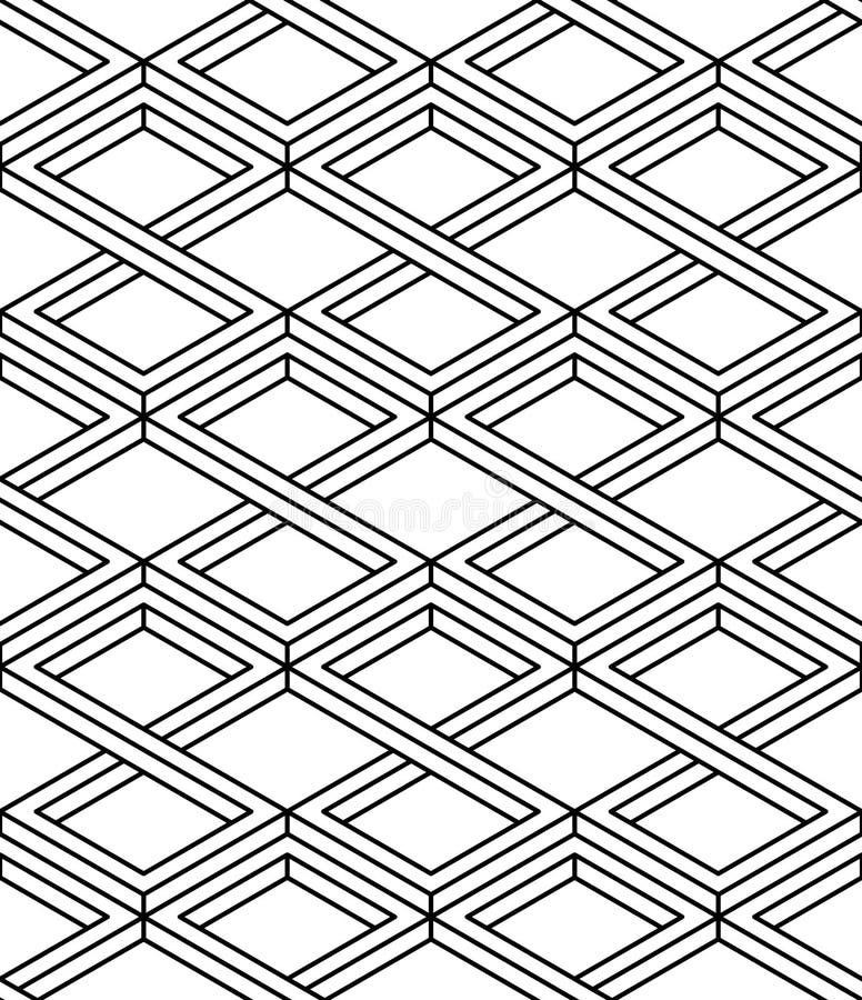 Bakgrund för abstrakt vektor för samtida ändlös, tre-mått stock illustrationer