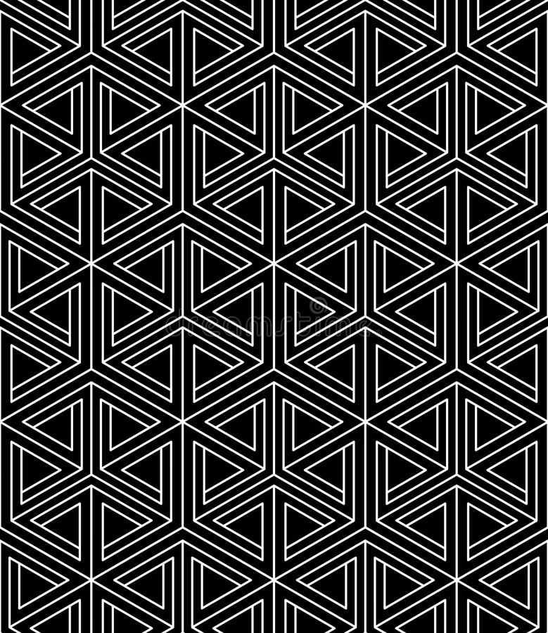 Bakgrund för abstrakt vektor för samtida ändlös, tre-mått royaltyfri illustrationer