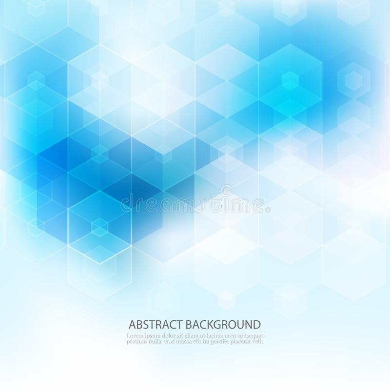 Bakgrund för abstrakt vetenskap för vektor Geometrisk design för sexhörning 10 eps stock illustrationer