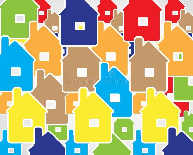 Bakgrund för affär för spegel för fastighetstadsströmkrets stock illustrationer