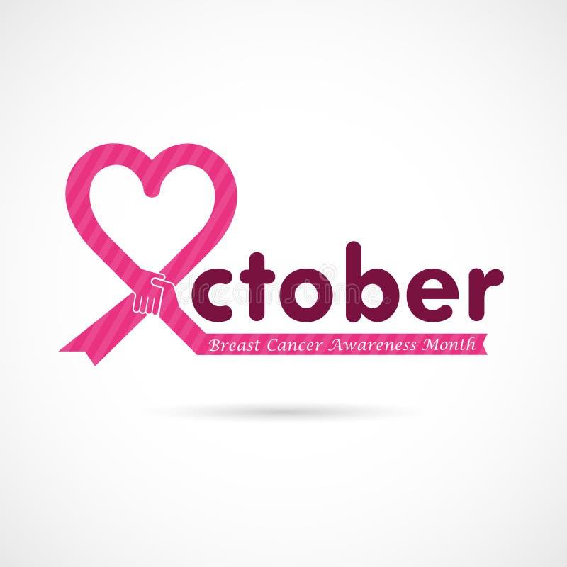 Bakgrund för aktion för månad för bröstcancerOktober medvetenhet Kvinnor stock illustrationer