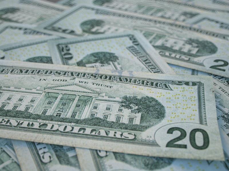 Bakgrund för amerikansk valuta Amerikanska dollar Bakgrund för amerikanska dollar arkivfoto