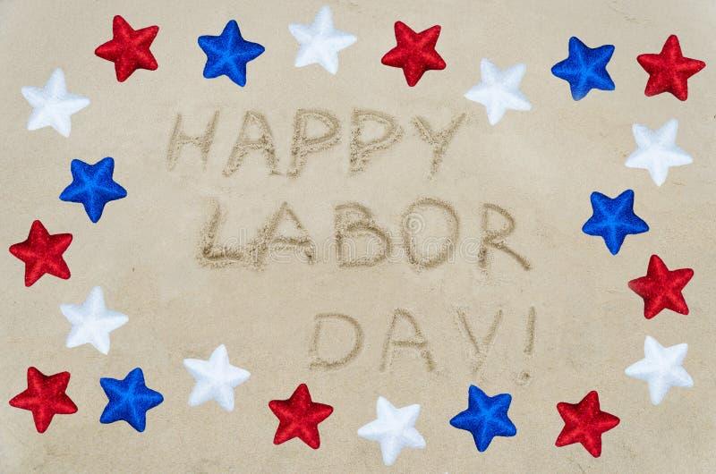 Bakgrund för arbets- dag på stranden arkivbild