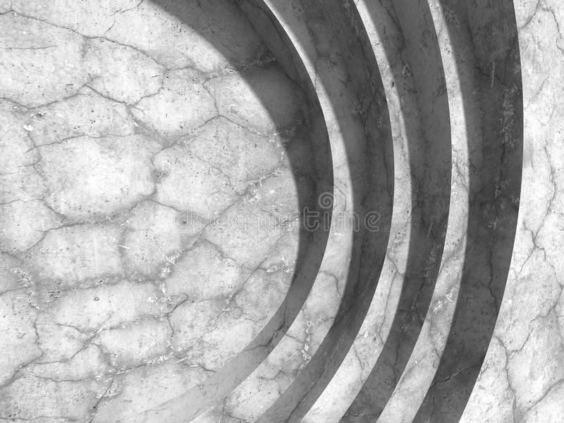 Download Bakgrund För Arkitektur För Betongväggrundadesign Modern Stock Illustrationer - Illustration av konstruktion, geometriskt: 78729008