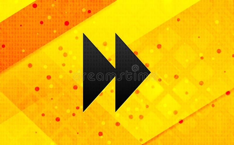 Bakgrund för bakåtriktat baner för symbol för hopp gul abstrakt digitalt stock illustrationer